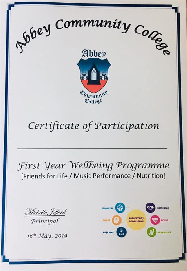 First Year Wellbeing Ceremony