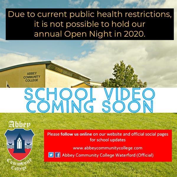 Open Night 2020 - UPDATE