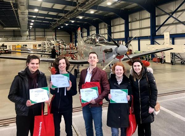 Aerprize final selection process at the Air Corps base in Baldonnel.
