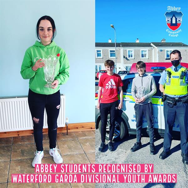 Abbey Students Recognised at Garda Divisional Youth Awards