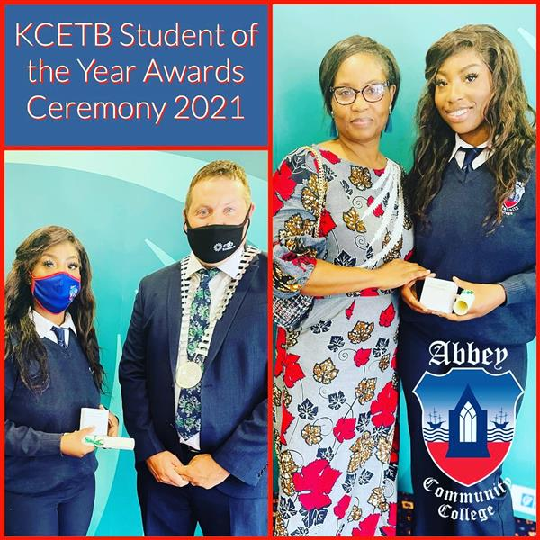 KCETB honours Abbey's Student of the Year 2021